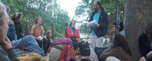 Workshop/Lecture by Sen McGlinn in the TreeTopGallery in Regents Park